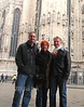 My friends Bob and Birdie Lape and Rich Lambrechts pose in front of the church. Great vacations are about sharing adventures with best friends and family. This was a great vacation.