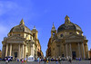 The twin Santa Maria churches in the Piazza del Popolo