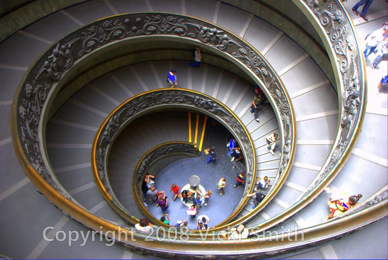 Walkway in the Vatican museum