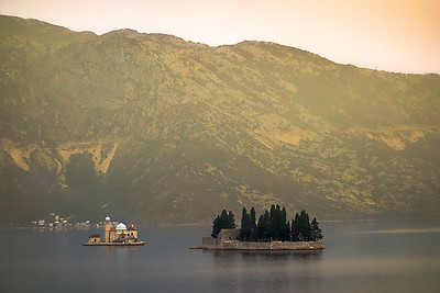 Bay in Kotor, Montenegro. Convent and Dominican Monestary