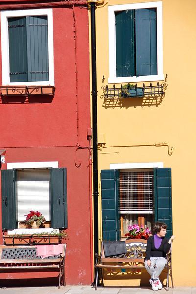 Cigarette break, Burano, Venice