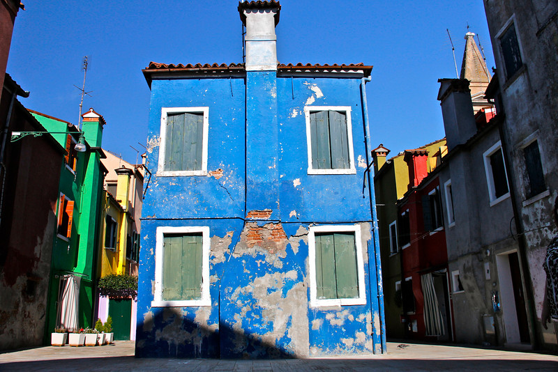 Colourful houses, Burano, Venice