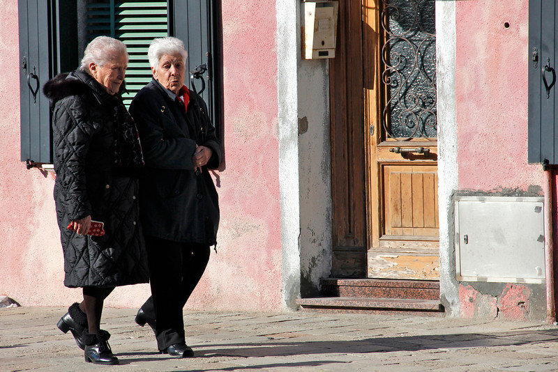 A stroll and a chat, Burano, Venice