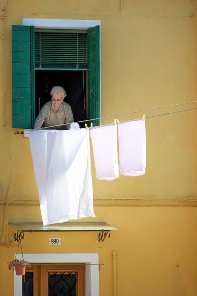 Washing day, Burano, Venice