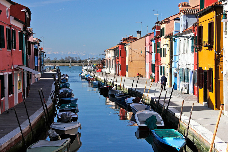Colourful canals, Burano, Venice