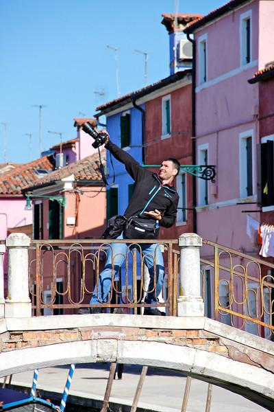 Luka Esenko on show, Burano, Venice