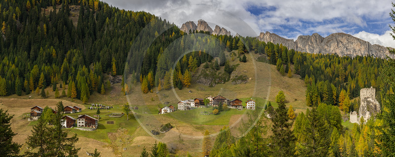 Castello South Tyrol Italy Panoramic Landscape Photography Scenic Fine Art America - 017373 - 11-10-2015 - 28272x11260 Pixel