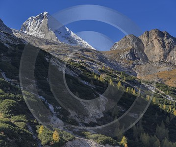 Passo Fedaia Autumn Tree Color Dolomites Panorama Viepoint Art Printing Fine Art Landscapes Fog - 024151 - 16-10-2016 - 7858x6559 Pixel