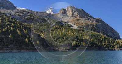 Passo Fedaia Autumn Lago Lake Tree Color Dolomites Winter Flower Barn Fine Arts Photography - 024148 - 16-10-2016 - 13066x6883 Pixel