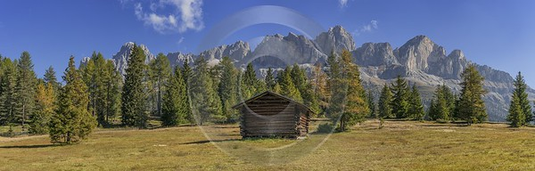 Passo Nigra Nigerpass Autumn Tree Color Dolomites Panorama Fine Art Photography For Sale Flower - 025437 - 13-10-2018 - 22285x7127 Pixel