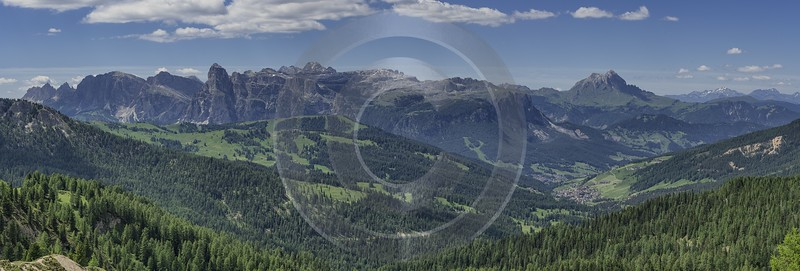 Passo Falzarego Pass Summer Dolomites Panoramic Alps Flower Art Prints For Sale Hi Resolution City - 024844 - 16-06-2018 - 20846x7050 Pixel