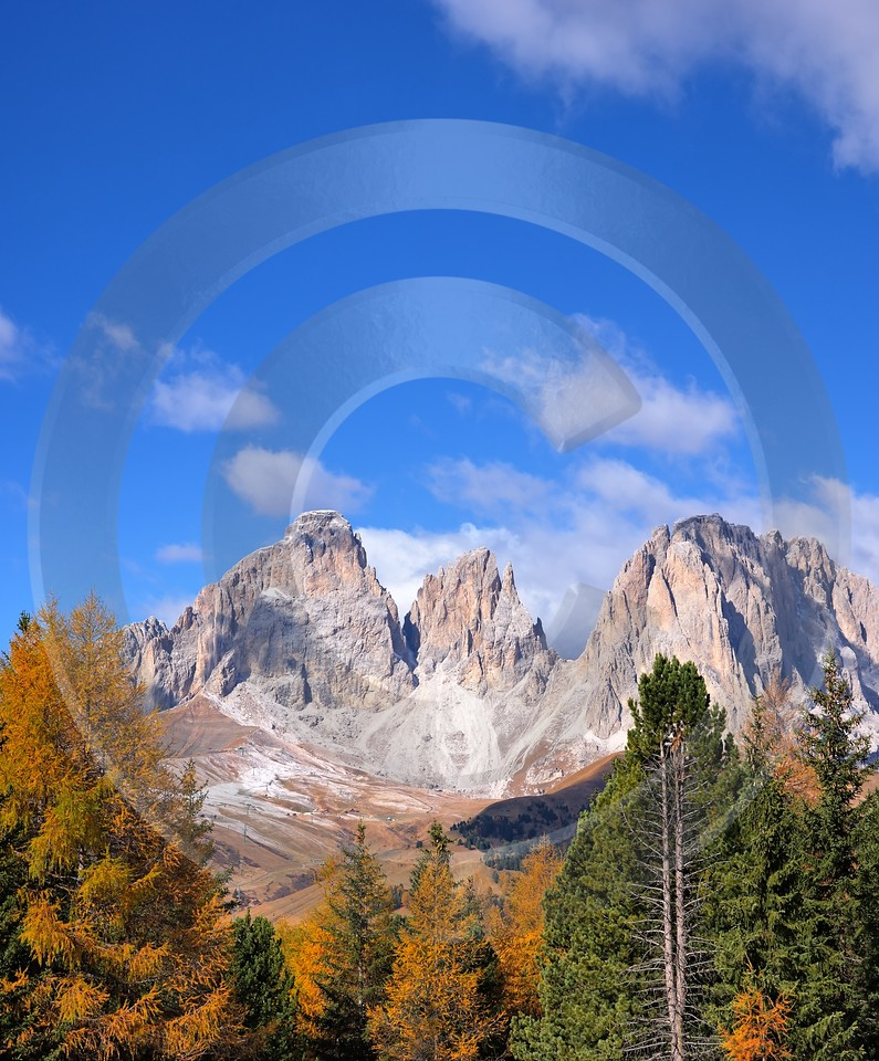 Passo Pordoi Pass Panorama Canazai Val Di Fassa Stock Country Road Images Fine Art Pictures - 001485 - 19-10-2007 - 4119x4970 Pixel
