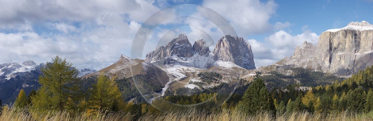 Pordoijoch Langkofel Sasso Lungo Herbst Berge Schnee Art Photography Gallery Coast Photography - 004970 - 12-10-2009 - 13212x4316 Pixel