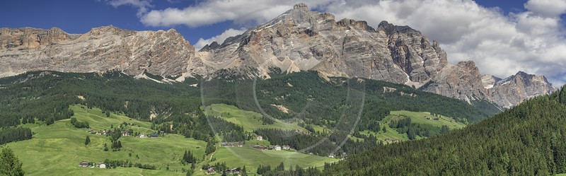 San Cassiano Sankt Kassian Village Summer Dolomites Panorama Ice Fine Art Photography Gallery - 024869 - 16-06-2018 - 24881x7739 Pixel