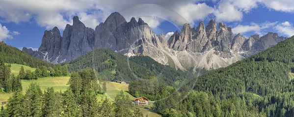Santa Maddalena Sankt Magdalena Village Summer Color Dolomites View Point Art Printing Stock Image - 024982 - 18-06-2018 - 18411x7313 Pixel