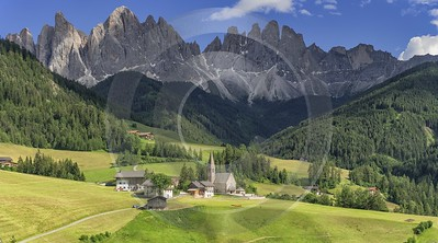Santa Maddalena Sankt Magdalena Village Summer Color Dolomites Grass Photo Fine Art Prints For Sale - 024974 - 18-06-2018 - 13839x7693 Pixel