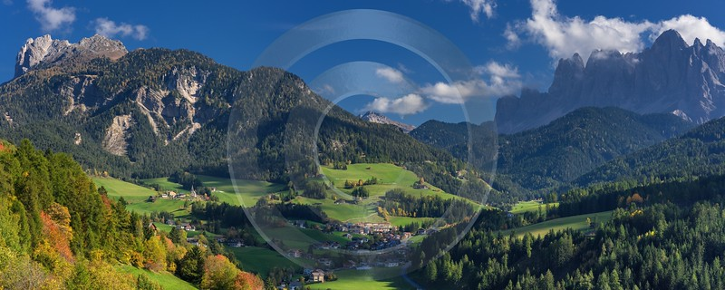 San Pietro South Tyrol Italy Panoramic Landscape Photography Royalty Free Stock Photos - 017288 - 12-10-2015 - 11319x4529 Pixel