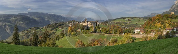 Castel Presule Schloss Proesels Autumn Tree Color Dolomites Leave Animal Art Prints Panoramic - 025466 - 16-10-2018 - 25384x7732 Pixel
