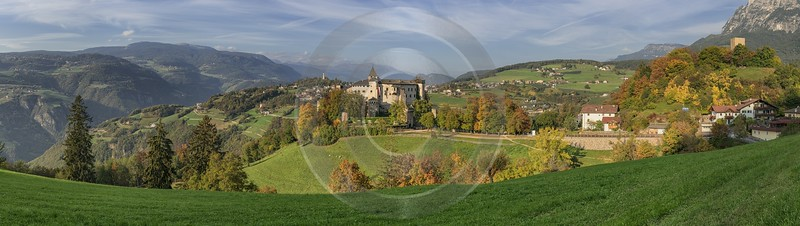 Castel Presule Schloss Proesels Autumn Tree Color Dolomites Pass Fine Art Landscape Photography - 025464 - 16-10-2018 - 24776x6994 Pixel