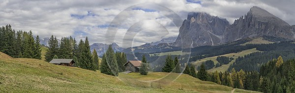 Alpe Siusi Seiser Alm Mont Seuc Autumn Tree Grass Stock Landscape Lake Fine Art Prints For Sale - 025501 - 17-10-2018 - 22091x6983 Pixel