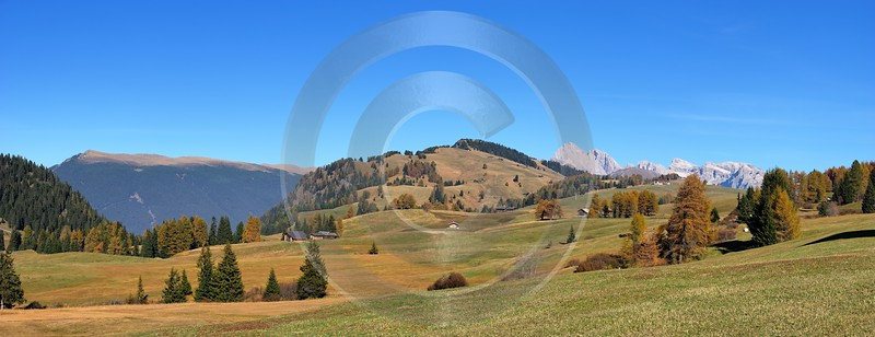Seiser Alm Alpe Di Siusi Berg Fernsicht Panorama Photo Art Photography Gallery Fine Art Photography - 001198 - 14-10-2007 - 10717x4118 Pixel