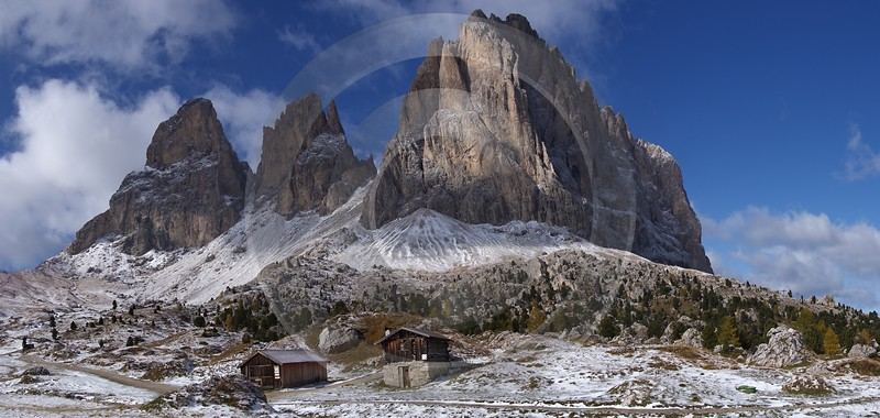 Sella Pass Val Gardena Langkofel Sasso Lungo Herbst Royalty Free Stock Images Color Art Printing - 004967 - 12-10-2009 - 8897x4221 Pixel