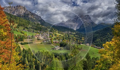 Selva Di Cadore South Tyrol Italy Panoramic Landscape Mountain Fine Art Landscapes Color - 017281 - 11-10-2015 - 12944x7575 Pixel