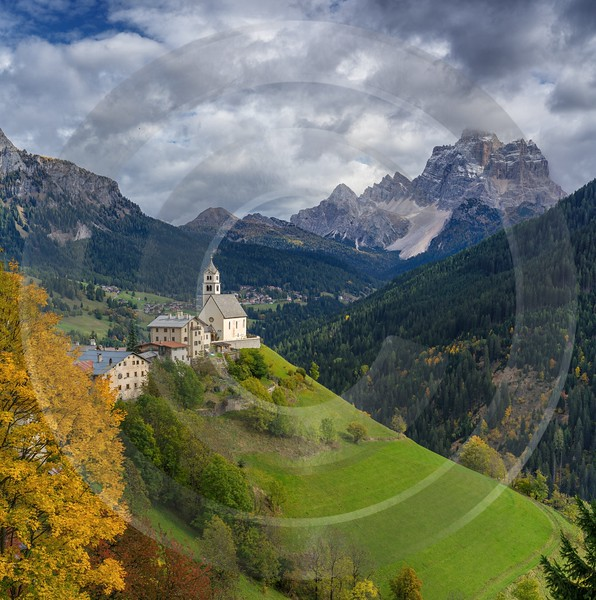 Selva Di Cadore South Tyrol Italy Panoramic Landscape Fine Art Landscapes Color - 017277 - 11-10-2015 - 7773x7820 Pixel