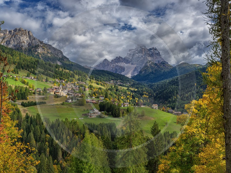 Selva Di Cadore South Tyrol Italy Panoramic Landscape Fine Art Photography Prints - 017280 - 11-10-2015 - 12524x9363 Pixel