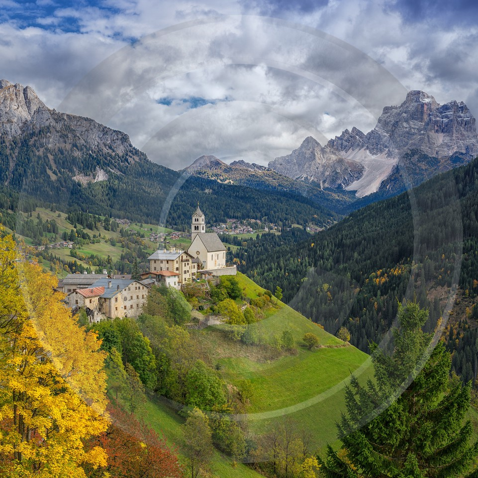 Selva Di Cadore South Tyrol Italy Panoramic Landscape Images Photography Prints For Sale Lake - 017275 - 11-10-2015 - 7745x7737 Pixel