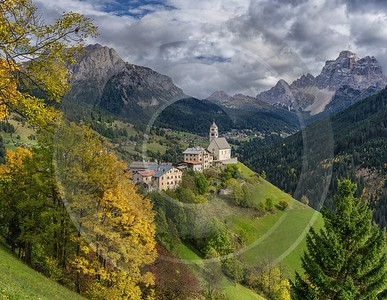 Selva Di Cadore South Tyrol Italy Panoramic Landscape Fine Art Nature Photography View Point - 017276 - 11-10-2015 - 10132x7844 Pixel