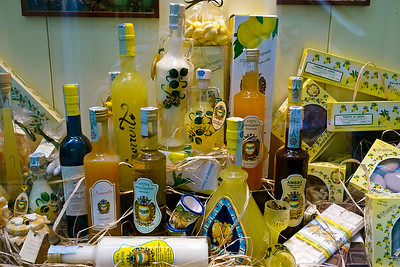 Limoncello store in Sorrento