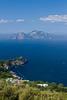 The Gulf of Naples and the Isle of Capri from Annunziata near Massa Lubrense, Italy.