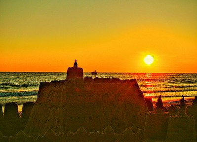 """Sandcastle Sunset"" - Anzio, Italia"