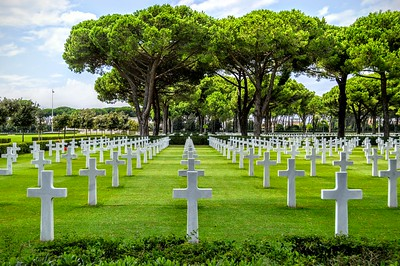 The Sicily-Rome American Cemetery is situated on the eastern edge of the Italian city of Anzio. There are over 7,800 men and women buried here.
