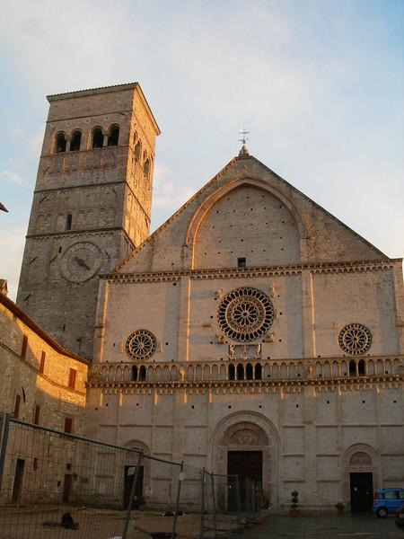 Assisi Cathedral, dedicated to St. Rufinus.<br /> <br /> Cattedrale di San Rufino, duomo di Assisi