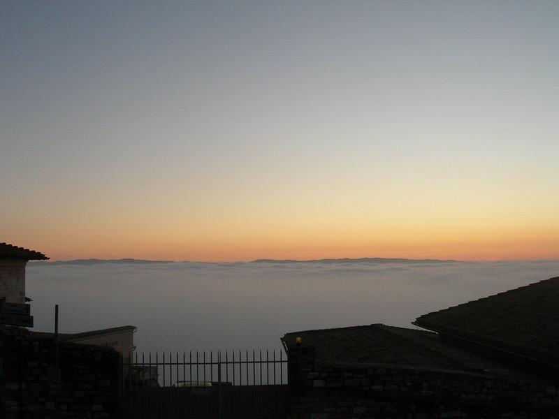 Panorama from the Basilica<br /> <br /> Vista dalla basilica con la nebbia