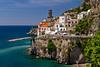 The picturesque fishing village of Atrani on the Amalfi Coast, Campania, Italy.