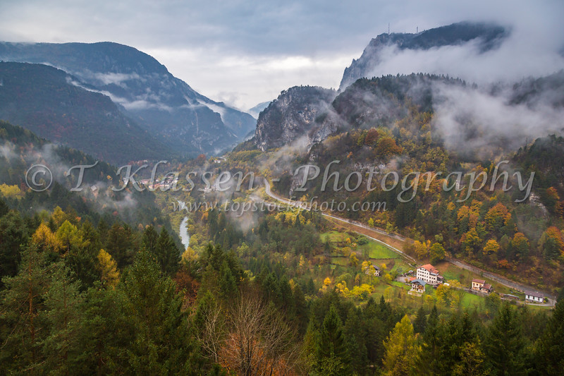 A Dolomite mountain valley near Auronzo di Cadore, Belluno, Veneto, Italy, Europe.