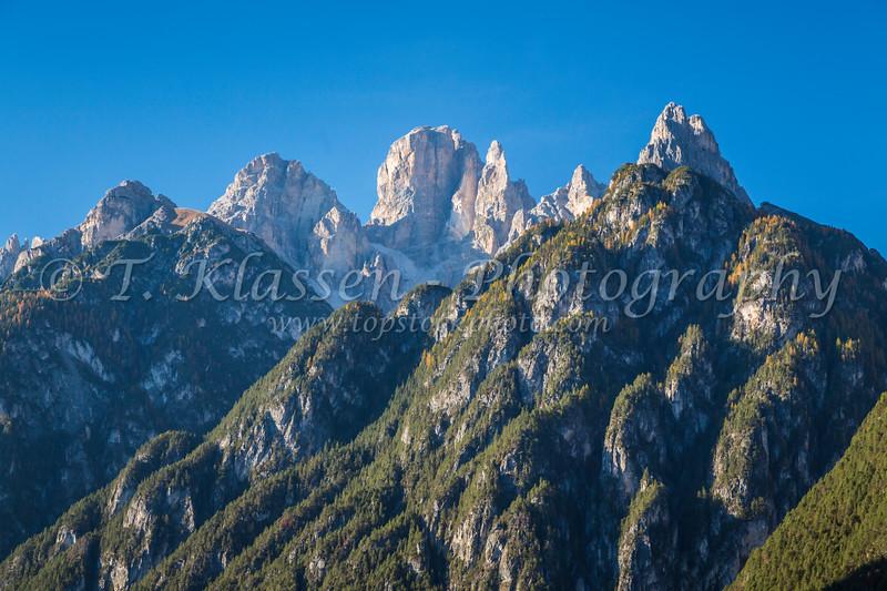 The Dolomite mountains near Auronzo di Cadore, Belluno, Veneto, northern Italy, Europe.