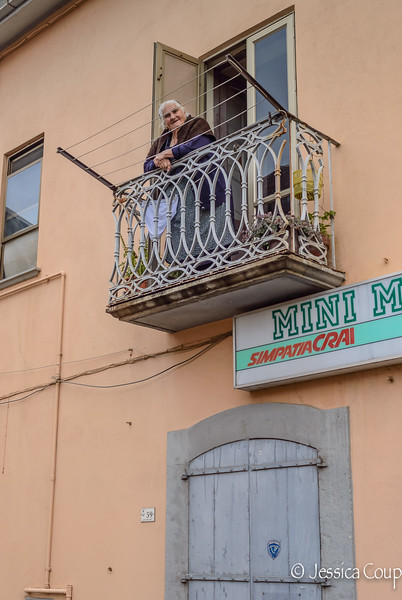 Nonna Watching from the Balcony