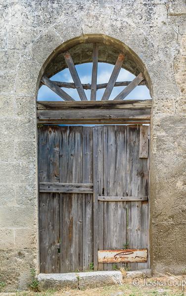 Doorway with Blue Skies