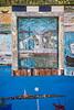 Building graffiti in the Venetian vlllage of Burano, Venice, Italy, Europe.