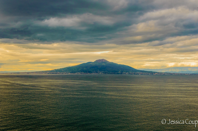 Mt. Vesuvius from the Amalfi Coast