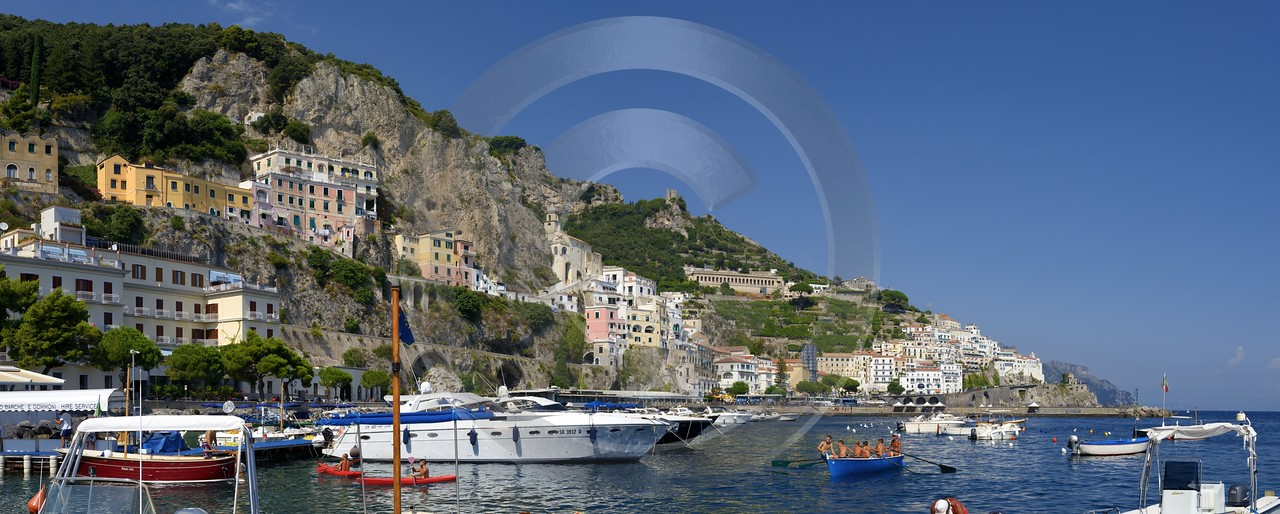 Amalfi Port Italy Campania Summer Sea Ocean Viewpoint Fine Art Photography Prints City Order Stock - 013596 - 12-08-2013 - 12062x4845 Pixel