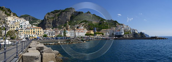 Amalfi Port Italy Campania Summer Sea Ocean Viewpoint Beach Forest Fine Art Nature Photography - 013525 - 10-08-2013 - 17092x6172 Pixel
