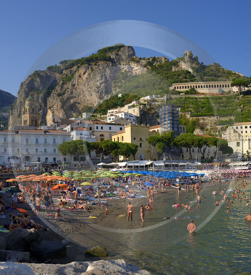 Amalfi Beach Town Italy Campania Summer Sea Ocean Prints For Sale Prints Landscape Fine Arts - 013455 - 08-08-2013 - 6996x7667 Pixel