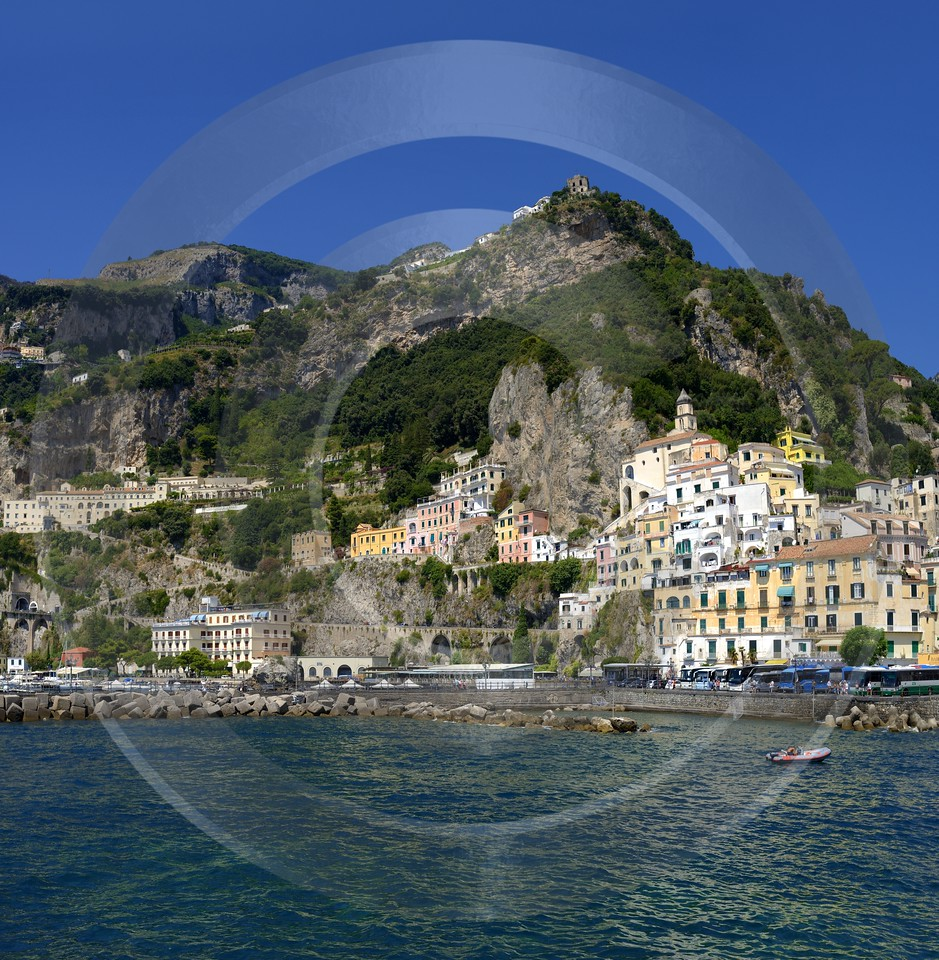 Amalfi Port Italy Campania Summer Sea Ocean Viewpoint Fine Art Photography Prints Photography Rock - 013529 - 10-08-2013 - 6581x6729 Pixel
