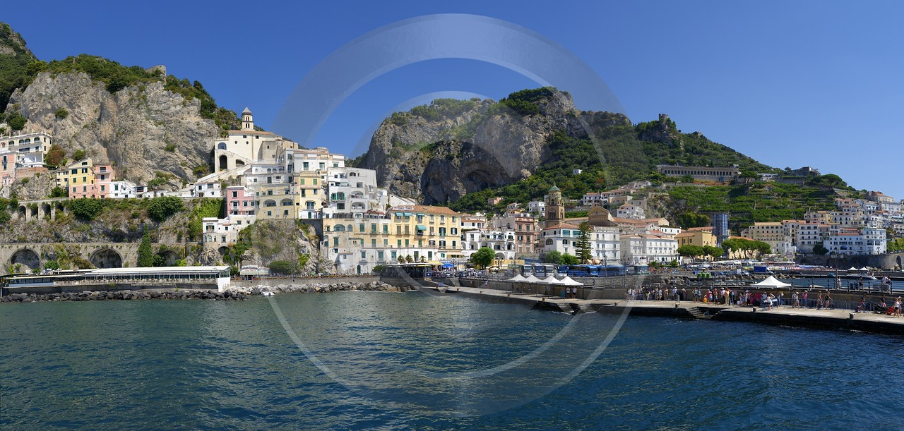 Amalfi Port Italy Campania Summer Sea Ocean Viewpoint Fine Art America Ice Flower City Country Road - 013522 - 10-08-2013 - 14429x6882 Pixel