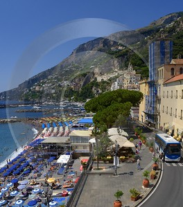Amalfi Port Italy Campania Summer Sea Ocean Viewpoint Creek Prints For Sale Shoreline Grass - 013532 - 10-08-2013 - 6628x7521 Pixel